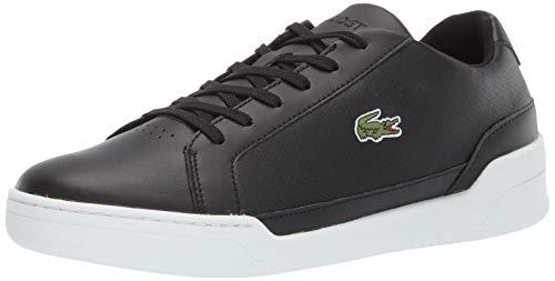 Lacoste Men's Challenge Sneaker, Black//White, 12 Medium US (Best Lacoste Cologne For Men)