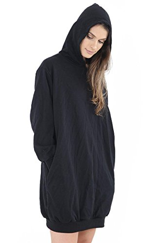 FZK FASHION - Sudadera con capucha - para mujer negro