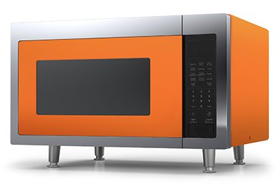 Big Chill Retro Microwave 1.6 cu. ft. 1200 watts - Orange Retro