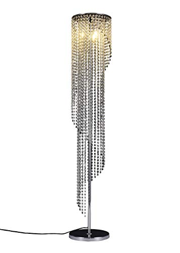 Surpars House Silver Crystal Floor Lamp S Shape Chrome Finish