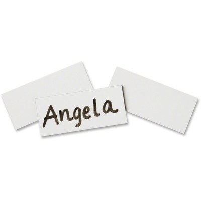 Quartet : Magnetic Write-On/Wipe-Off Strips, 2w x 7/8h, White, 25 per Pack -:- Sold as 2 Packs of - 25 - / - Total of 50 Each