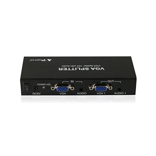 Portta VGA Splitter with Stereo Audio 500MHz