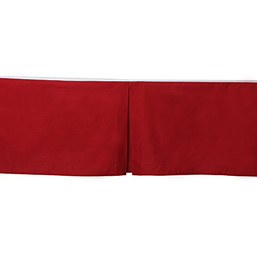 Bacati Crib/Toddler Ruffles or Skirt, Solid Red (Skirt Toddler Crib)