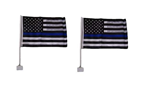 "12x18 USA Police Thin Blue Line Double Sided Car Window Vehicle 12/""x18/"" Flag"