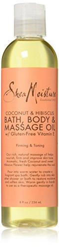 SheaMoisture Coconut & Hibiscus Bath, Body & Massage Oil   8 oz.
