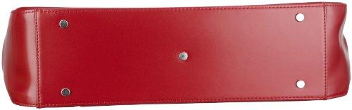 Picard 4578 - Bolso de asas de cuero para mujer Rojo