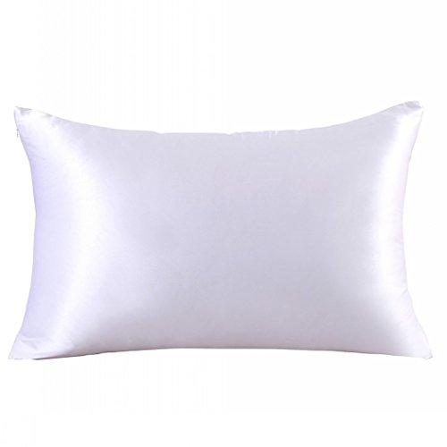 ZIMASILK 100% Mulberry Silk Toddler Pillowcase Kids,Both Side 19 Momme Silk,1pc (Toddler14''X20'', White)