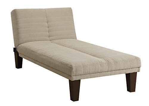 DHP Dillan Chaise Lounger, Tan Microfiber, Full
