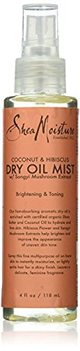 - Shea Moisture Coconut & Hibiscus Dry Oil Mist for Unisex, 4 Ounce