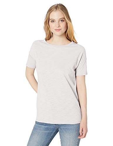 - Amazon Brand - Daily Ritual Women's Lightweight Lived-In Cotton Short-Sleeve Drop-Shoulder Tunic, White, Small