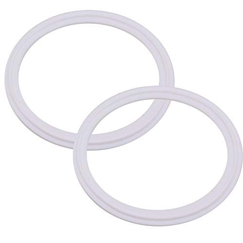 Dernord Teflon (PTFE) Tri-Clamp Gasket O-Ring - 4 inch Style Fits OD 119MM Sanitary Pipe Weld Ferrule (Pack of 2)