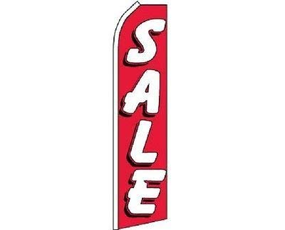 (Red and White Sale Feather Flag, Sale Swooper Flag (Flag Only))