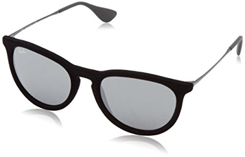 Ray-Ban Erika RB 4171 Sunglasses Velvet Black / Grey Mirror Silver 54mm & HDO Cleaning Carekit - Bans Erika Velvet Ray