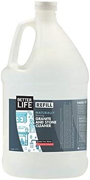 BETTER Life Stone & Granite Cleaner Refill Gallon, 3785 Milliliter, Pomegranate Grapef