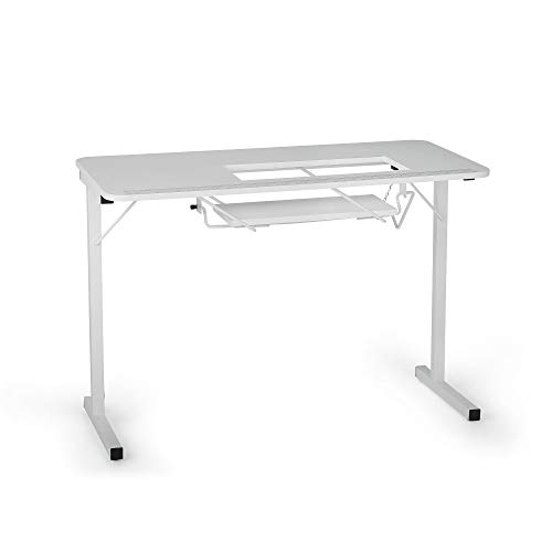 Folding Sewing Table (Arrow Sewing Cabinets 601 Gidget I , Sewing Table, White)