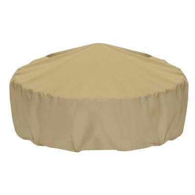 Smart Living 2D-FP60005 Home and Garden Fire Pit Cover with Level 4 UV Protection, 60-Inch, Khaki by Two Dogs Designs