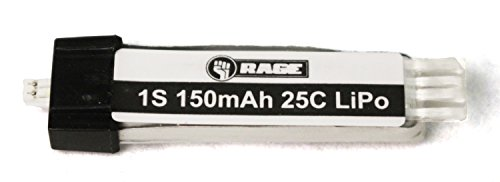 Rage RC A1124 150Mah 1S 3.7V 15C Lipo Battery, Ultra-Micro Connector: Spirit of St. Louis & Vintage Stick