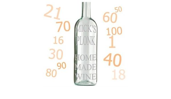 Flipmycover grabadas para botella de vino: Amazon.es: Hogar