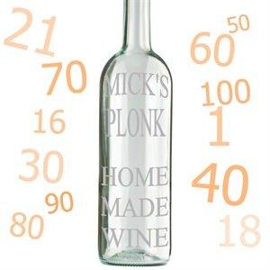 Personalizado grabado para botella de vino