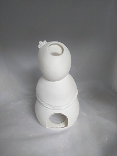 Snowlady Candle Light 10 Ceramic Bisque Ready to Paint