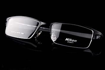 fde958ea8c34 Image Unavailable. Image not available for. Color  Nikon Titanium Unisex Eye  Glass Eyeglass Frame ...