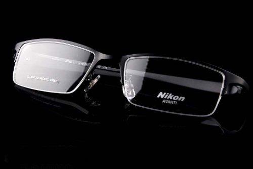 Nikon Titanium Unisex Eye Glass Eyeglass Frame Half Rim Frame with Special - Eyeglass Titanium