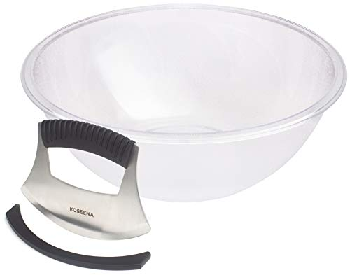 KOSEENA-Salad Chopper and Bowl-Durable and Long Lasting-Salad Cutter-Chopped Salad Bowl and Chopper-Lettuce Chopper