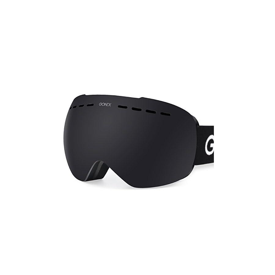 Gonex OTG Ski Goggles, Oversized Snow Snowboard Goggles Anti Fog UV Protection with Box for Men & Women