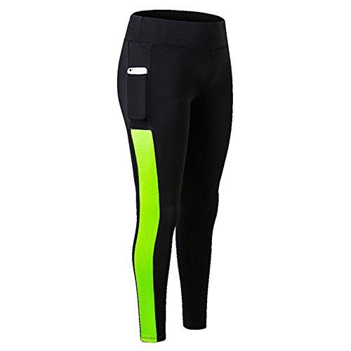 Fanceey Haute taille photo Pocket Yoga Pantalon Tummy contrôle d'entraînement en cours d'exécution 4 Way Stretch Yoga Leggings