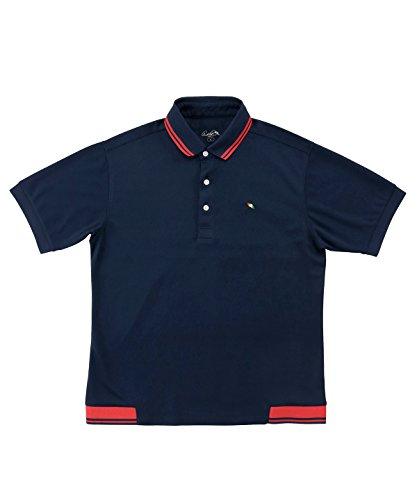 アーノルドパーマー メンズ ゴルフ ポロシャツ 半袖 ヘムリブ半袖ポロ AP220101H01 NV/RD M