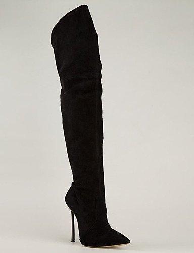 Casual A Puntiagudos Eu43 Moda Vestido Xzz Uk9 Zapatos Y Negro Mujer Botas La Stiletto Uk6 Fiesta Eu39 us8 Black Tacón Noche us11 De Black Cn39 Cn44 Vellón zHPxqHX0