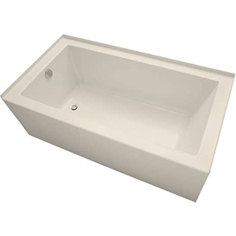 Incroyable Mirabelle MIRSKS6032L Sitka 60u0026quot; X 32u0026quot; Acrylic Soaking Bathtub For  Three ...