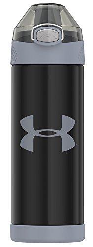 Under Armor Protege Stainless Steel Water Bottle, 16 oz, Black