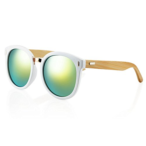 Fashion Womens Retro Designer Lightweight Sunglasses Mens Outdoor Sports Glasses Eyewear New, Vintage Design, 100% UV Protection, Rouknd Style (Green - H&m Sunglasses Ebay