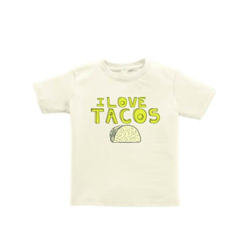 2372c916 Apericots Funny I Love Tacos Toddler Tee With Taco Design Soft 100% Cotton