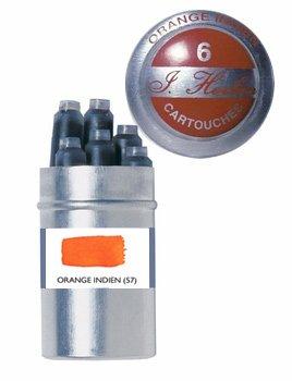J. Herbin Refills Orange Indien Fountain Pen Cartridge - ...