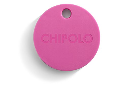 Chipolo 2nd Gen 110019 Bluetooth Key Phone Car Luggage Wallet Item Finder & Selfie Remote, Bubblegum Pink