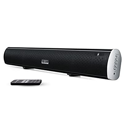 GOgroove BlueSYNC SBR Bluetooth Home Theater Sound Bar Speaker with High Definition Wireless Streaming, Optical and Analog Input and Wall Mounting Kit - Works with Samsung , VIZIO , LG and More HD Televisions
