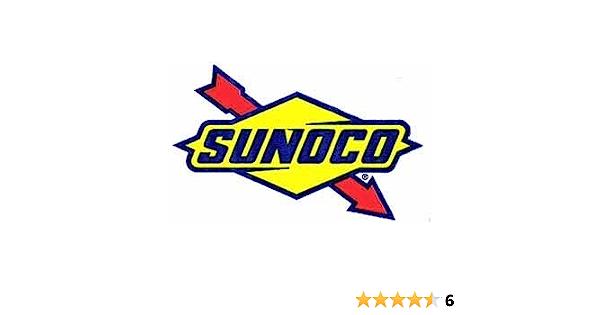 4 1.25 INCH BLUE SUNOCO DECAL STICKER SHEET