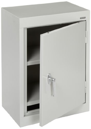 Sandusky Lee WA11181226-05 Dove Gray Steel Wall Cabinet, Single Door, 1 Adjustable Shelf, 26