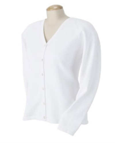 Chestnut Hill Women's Six-Button Cardigan Sweater CH405W white Large