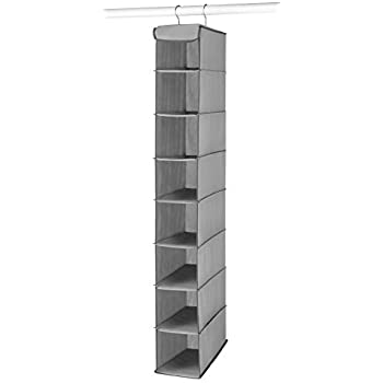 Elegant Whitmor Hanging Shoe Shelves   8 Section   Closet Organizer   Grey