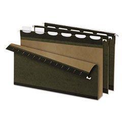 * Ready-Tab Lift Tab 2 Capacity Hanging Folders, Legal, Green, 20/Box by 4COU