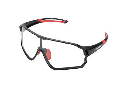 ROCKBROS Gafas de Sol Fotocromáticas Deportivas con Lentes Transparentes para Deportes Ciclismo Running PC Protección…