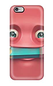 New Happy Red Smiling Face Tpu Case Cover, Anti-scratch TFzxhxH4356YmgEA Phone Case For Iphone 6 Plus(3D PC Soft Case)