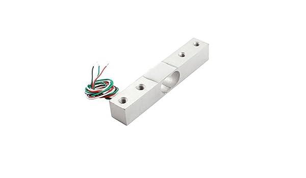 Amazon.com: eDealMax 3 kg 4-Wired aleación de aluminio de la celda de carga del Sensor de presión Para medir peso: Industrial & Scientific