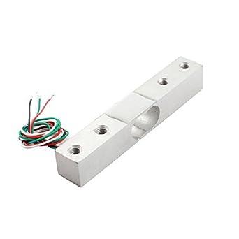 eDealMax 3 kg 4-Wired aleación de aluminio de la celda de carga del Sensor