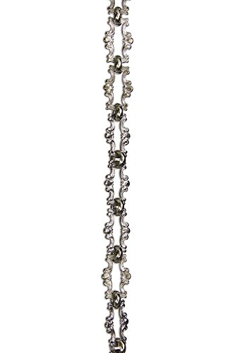 rch hardware decorative polished nickel solid brass chain for hanging lighting motif welded links 1 foot - Decorative Chain