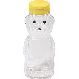 Little Giant Plastic Bear Bottle Honey Squeeze Bottle with Flip-top Lid (12 Ounce, 12 Pack) (Item No. HBEAR12)