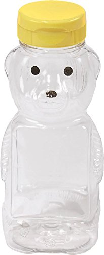 Bear Bee Honey (Little Giant Farm & Ag HBEAR12 Empty Plastic Bear Bottles,12 oz, Pack of 12)